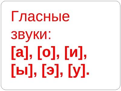 гласные звуки в русском языке