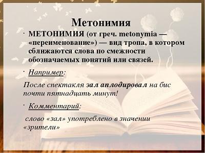 метонимия это и примеры