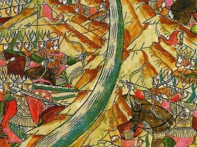 фрагмент миниатюры из летописи