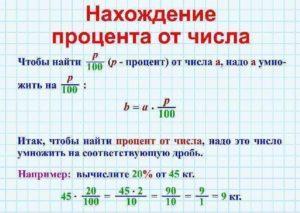 как посчитать процент от суммы