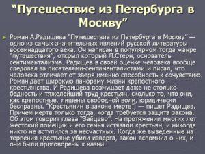 о чем путешествие из петербурга в москву