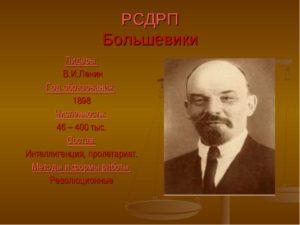 за что выступали большевики