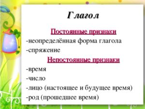 как разобрать слово как часть речи глагол