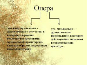 история возникновения оперы