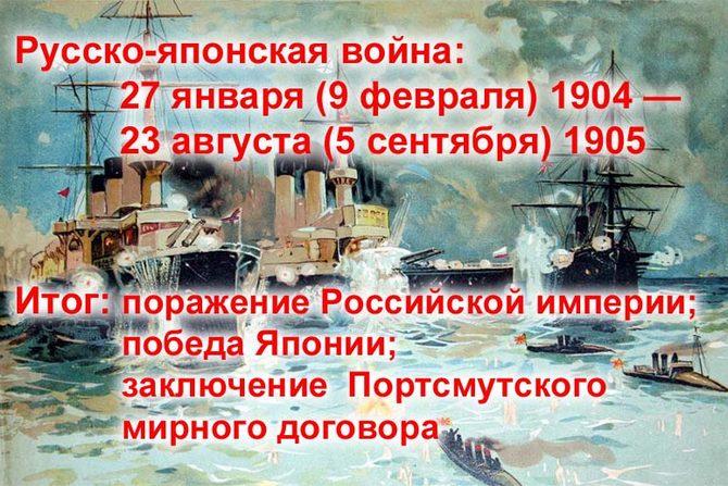 Итоги Русско-японской войны