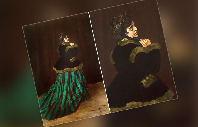 «Камилла, или портрет дамы в зеленом платье» 1866
