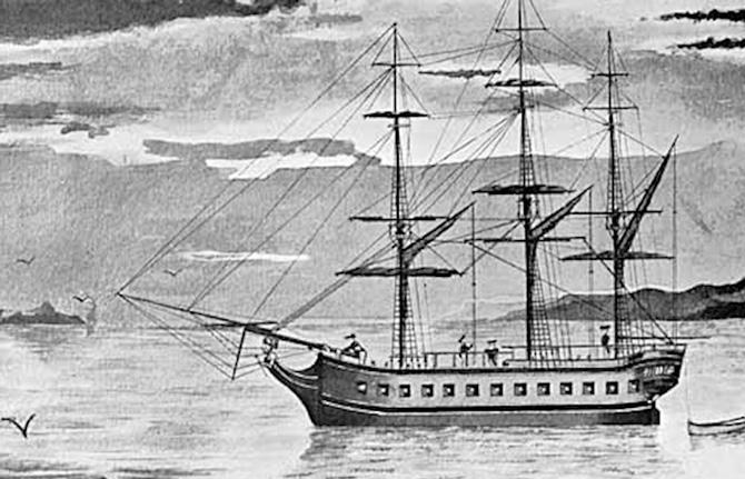 «Резолюшн» – один из кораблей второй и третьей экспедиций