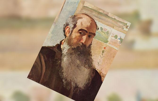 Автопортрет Писсаро, 1873 г