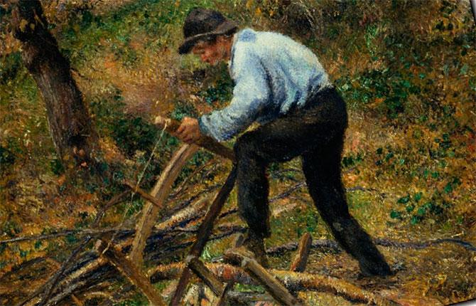 «Отец Мелон за распиливанием дров»
