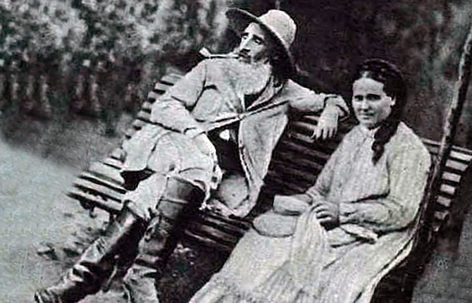 Камиль Писсаро с супругой