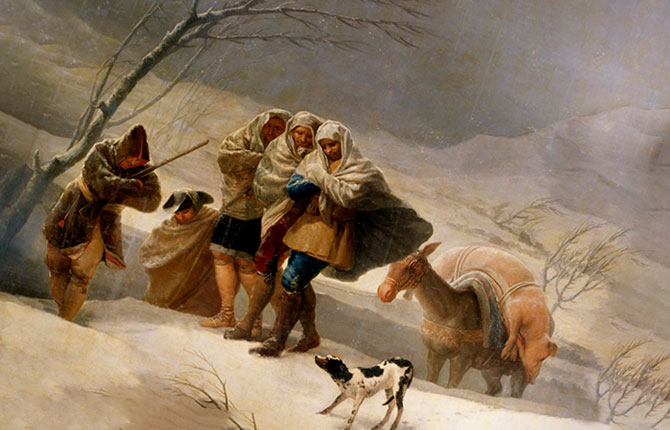 Гойя Метель (Зима)