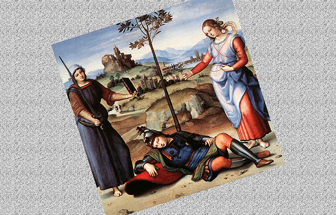 Картина Сон рыцаря