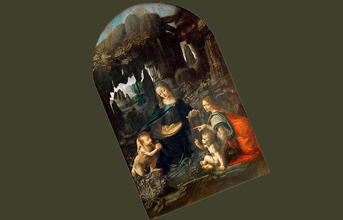 Леонардо да Винчи Мадонна в скалах