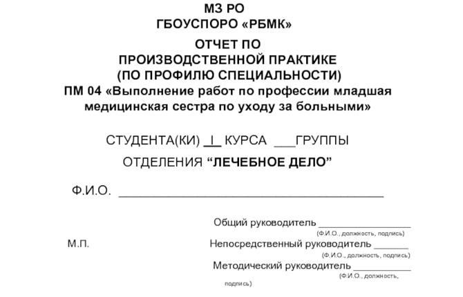 Отчет по практике