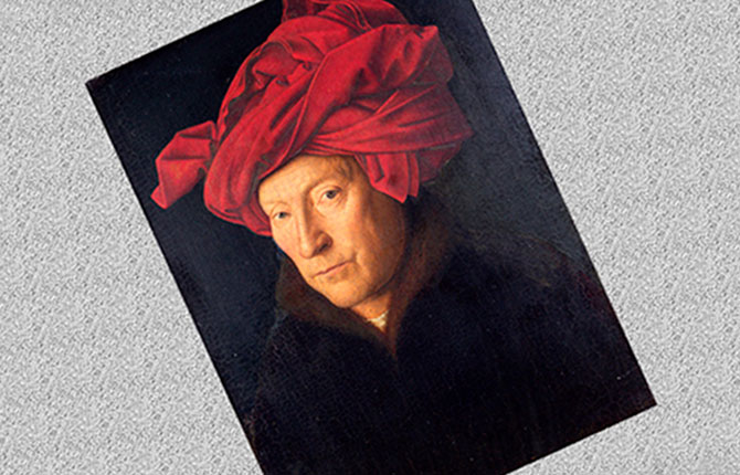 Портрет человека в красном тюрбане Ян Ван Эйк