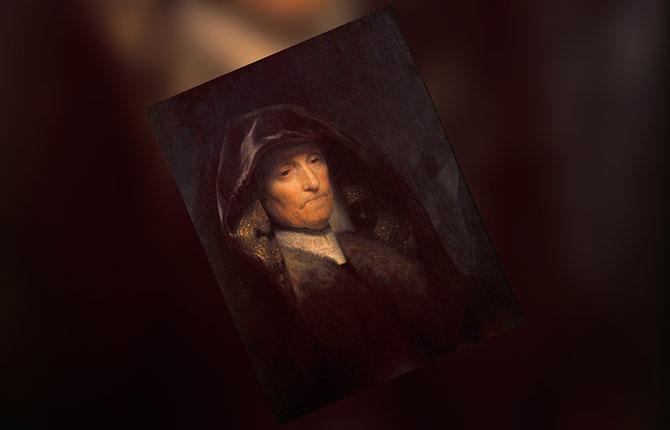 Рембрандт, Портрет пожилой женщины