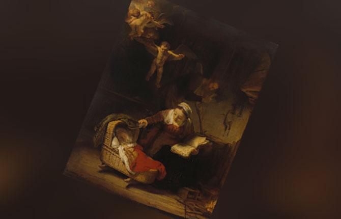 Святое семейство с ангелами, 1645 г.