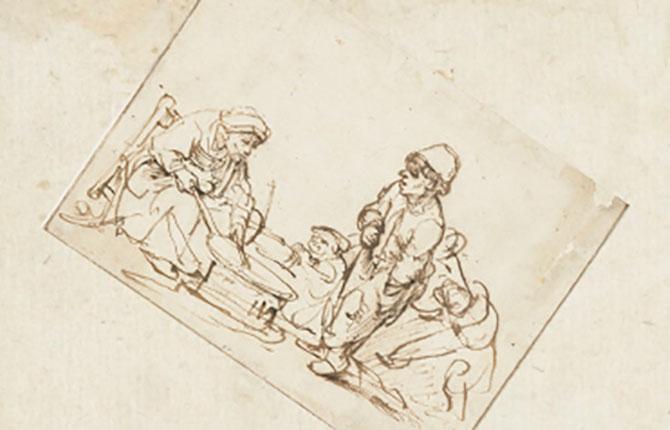 Торговка блинами, 1635 г.