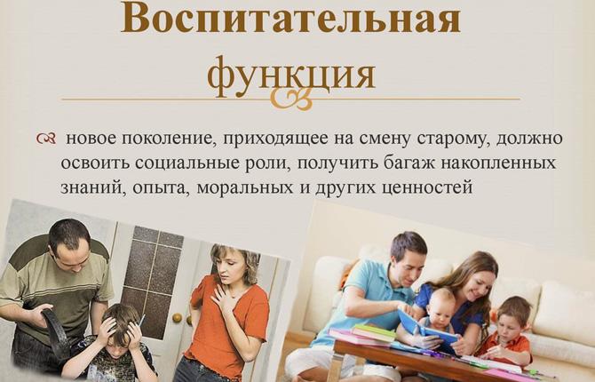 Воспитательная функция семьи